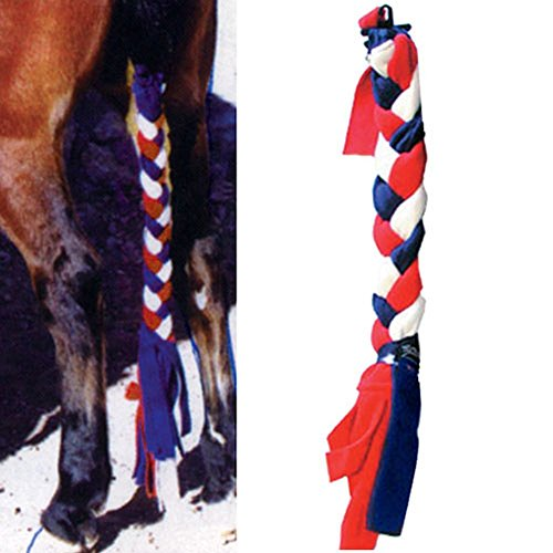 Fleece International Intrepid - Intrepid International Original Tailwrap Fleece Tail Braid, Medium, Purple