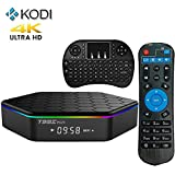 Easytone T95Z Plus Amlogic S912 Android 6.0 Smart Kodi TV Box 2GB/16GB/4K 64-bit Xbmc 3D HDMI Miracast Airplay Wifi Lan Streaming Media Player Ethernet Add-ons Pre-installed + I8 Wireless Keyboard