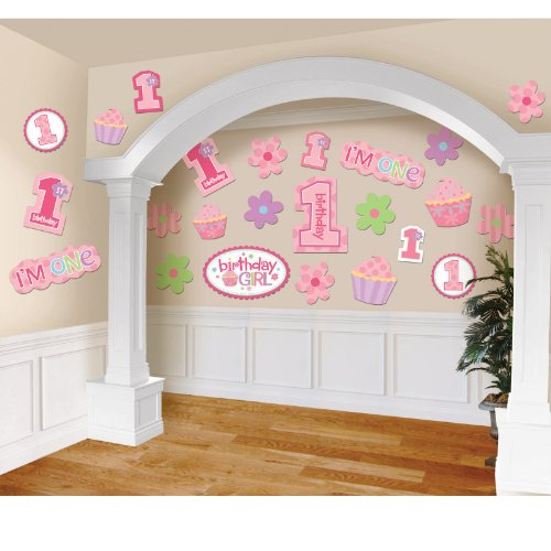Amscan Birthday 'Sweet Lil' Cupcake Girl' Cutouts (30pc) -