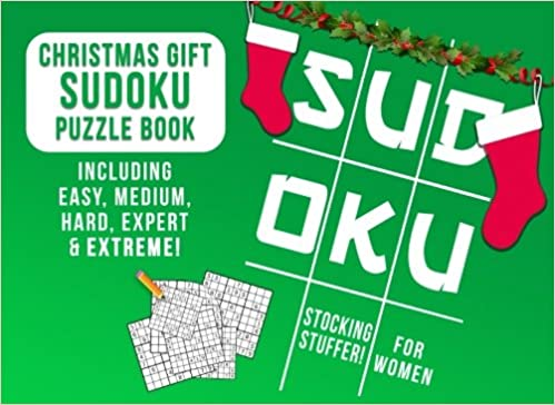 stocking stuffers for women christmas gift sudoku puzzle book including easy medium hard expert extreme womens stocking stuffer ideas christmas