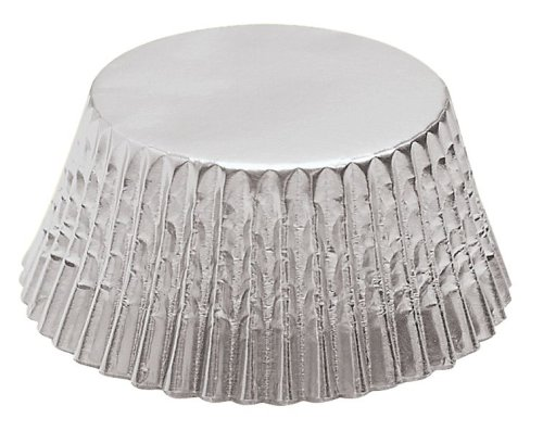Fox Run Silver Foil Mini Baking Cups, 48 - Mini Foil Cupcake Liners