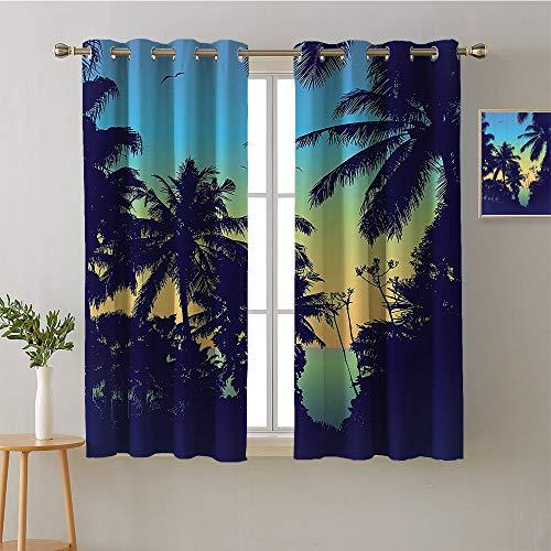"""Jinguizi Curtain Kitchen Grommets Light Darkening Curtains Curtains,Extra Darkening Curtains Background Darkening Curtains Room/Bedroom(1 Pair, 52"""" Width Each Panel)"""