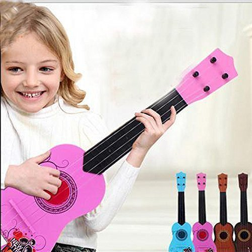 E Support™ Child's Acoustic Guitar Beginner's Musical Instrument Kid 6 String Pink Mini Guitar by E Support