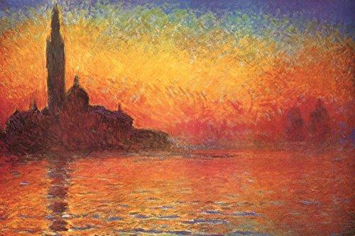 Claude Monet (Dusk in Venice) Art Poster Print - 24x36 Poster Print, (Dusk Art Print)