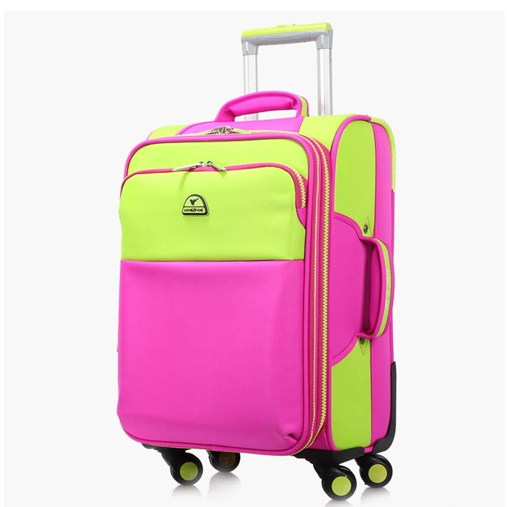 ZHANGQIANG ハンドトラベル荷物トロリーケース 持ち運び可能な手荷物スーツケースバッグ超軽量 (色 : ローズレッド, サイズ さいず : 28 inches) 28 inches ローズレッド B07R3TN3FF