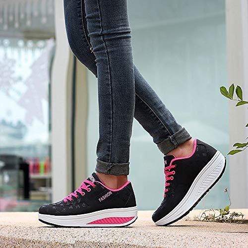 Ladies Shoes Yao Platform Women's Black Sports Breathable Running 39 Increased wAxfTqa