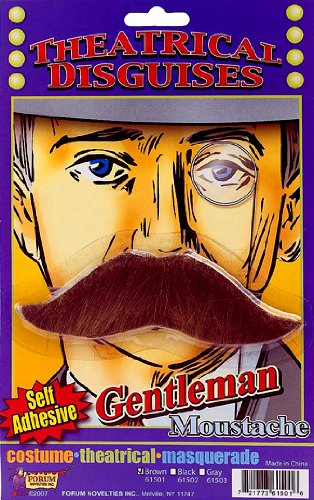 [Moustache - Gentleman's - Brown - Accessory] (Costumes With Moustaches)