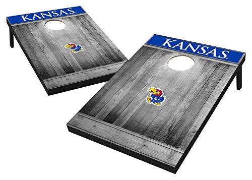 Ncaa College Kansas Jayhawks Tailgate Toss   Gray Wood Designkansas Jayhawks Tailgate Toss   Gray Wood Design  Team Color  2X3
