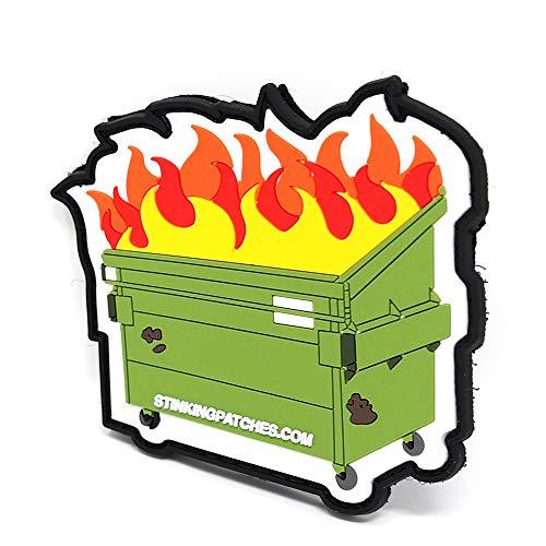 Dumpster Fire   PVC Rubber Tactical Patch   Funny Morale Patch