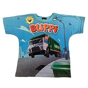 Blippi Official Child Garbage Truck T-Shirt for Kids Size 3T