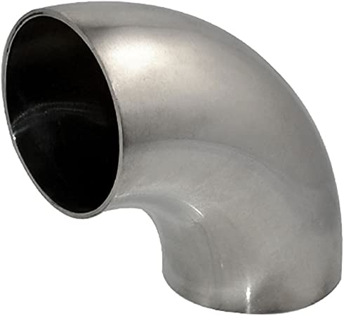 "Car 4/""inch//102mm 90 Degree Stainless Steel Bend Elbow Pipe Piping Tubing Durable"