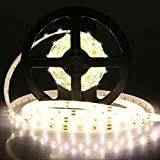 16.4 ft LED Flexible Strip Light Linkstyle SMD3528 300 Units Warm White LED Strip Lights, 12V Flexible LED Strip Light Kit with Power Supply & LED Rope Light Tape Lights for DIY Bedroom Home Bar Party