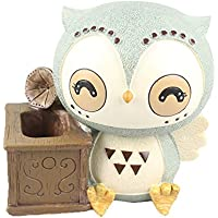 Arbeflo Cartoon Owl Resin Pen Holders Desktop Ornaments Luxury Gift and Exquisite Handicraft (Owl with Speaker)