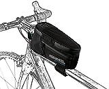 Roswheel Attack Series 121370 High Capacity Waterproof Bike Front Frame Bag Bicycle Top Tube Pannier Cycling Accessories Phone, Black