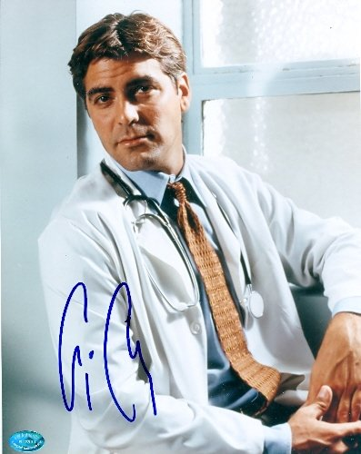 Autograph-Warehouse-51272-George-Clooney-Autographed-8-x-10-Photo-Er-Doctor-Actor-Image-No-2