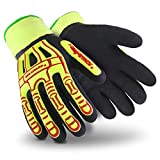 HexArmor Rig Lizard 2099 Double Coated Water Resistant Work Gloves with Impact Protection and Fleece Liner