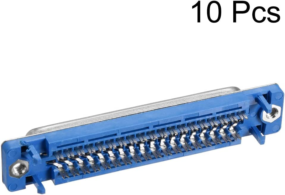 uxcell IDC D-Sub Ribbon Cable Connector 37-pin 2-Row Female Socket IDC Crimp Port Terminal Breakout for Flat Ribbon Cable Pack of 10