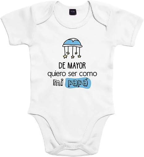 SUPERMOLON Body bebé algodón De mayor quiero ser como mi papá 3 ...