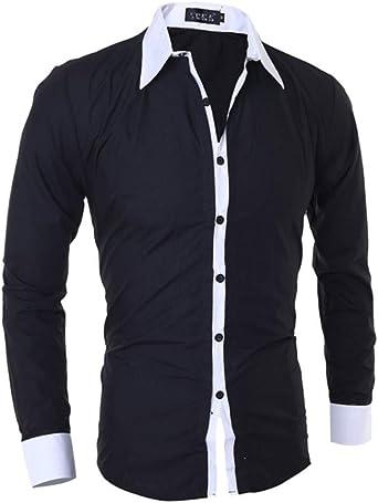 SXZG Camisa de diseño para Hombre Camisa Casual de Manga ...