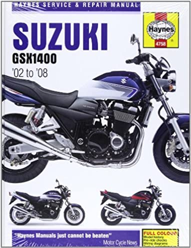 suzuki gsx1400 service and repair manual 2002 to 2008 haynes rh amazon com suzuki gsx1400 owners manual Suzuki Hayabusa 1500
