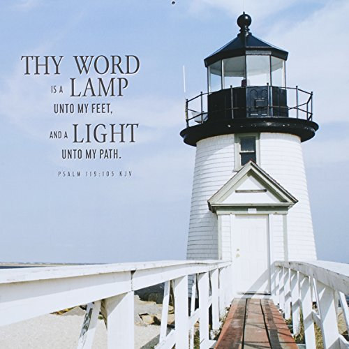 DaySpring 12″ x 12″ 2016 12-Month Wall Calendar, Lighthouses – Keepers of Light (73524)
