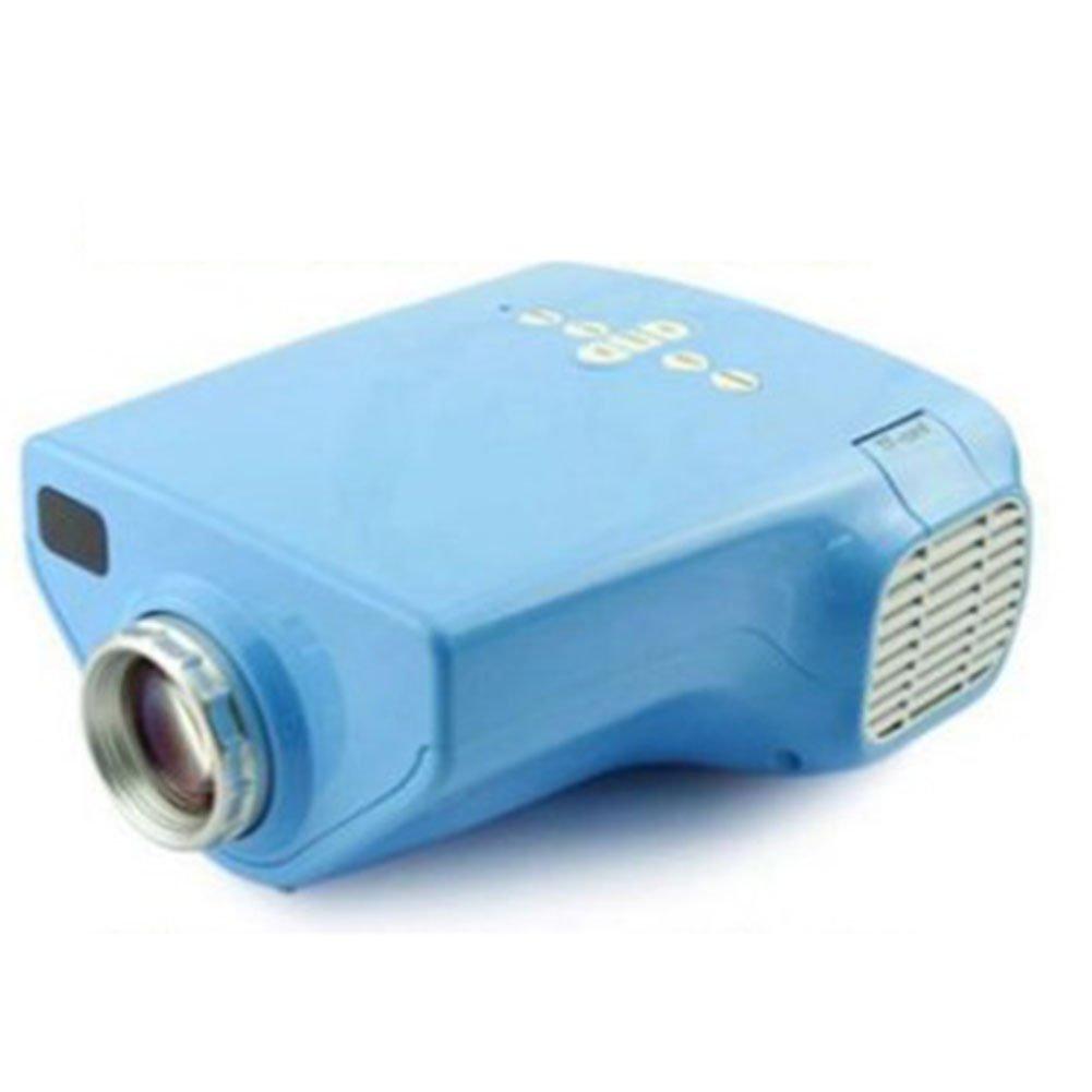 子供用ミニプロジェクター ポータブル、 画面共有 内蔵バッテリ ワイヤレス ムービープレーヤー インテリジェントな 画面投影 1080p ストーリー早期教育機械 LEDプロジェクター,Blue B07QXMW77H Blue