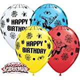 Marvels Ultime Spiderman Joyeux Anniversaire 27.9cm Qualatex Ballons En Latex x 10