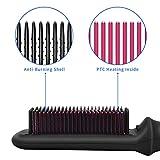 Hair Straightener Brush 5 Temp Settings Ionic