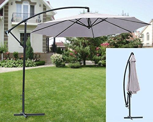 Ampelschirm-grau-inklusive-Schirmstnder-mit-Kurbel-knickbar-Sonnenschirm-ca-300-cm-
