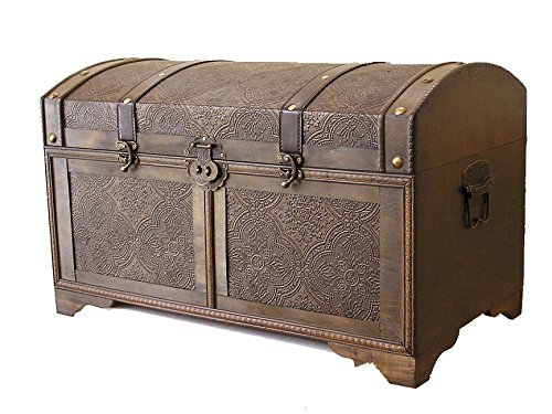 Incroyable Amazon.com: Styled Shopping Nostalgic Large Wood Storage Trunk Wooden  Treasure Chest: Kitchen U0026 Dining