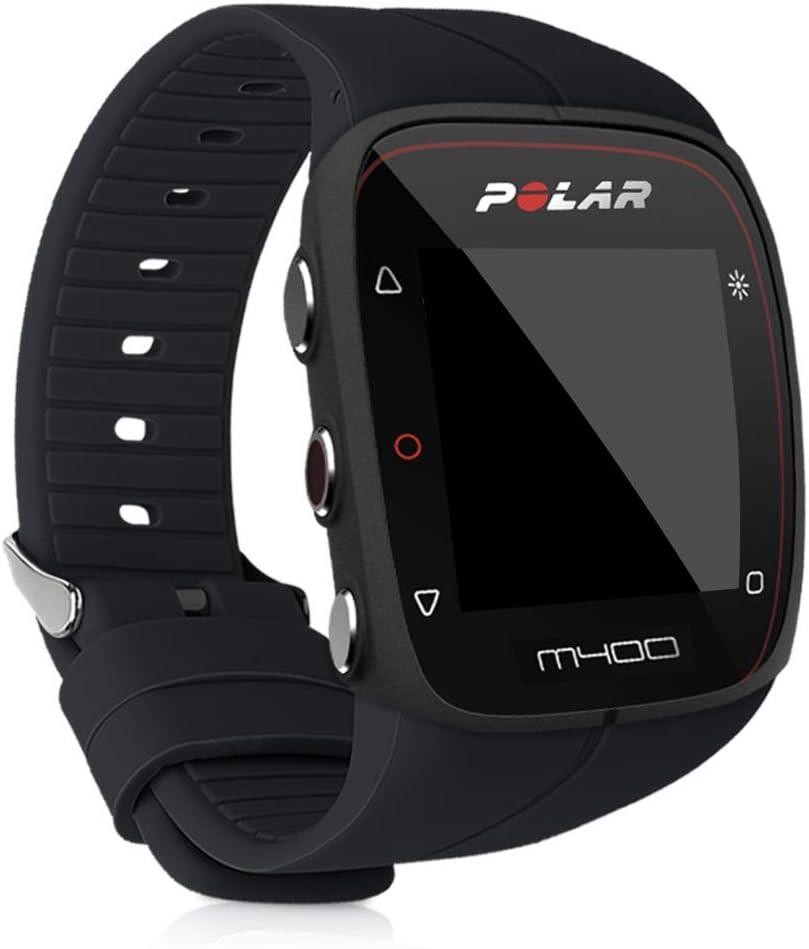 kwmobile Pulsera Compatible con Polar M400 / M430 - Brazalete de Silicona en Negro sin Fitness Tracker