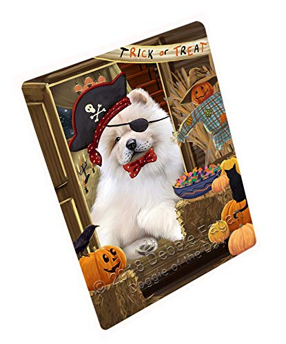 Enter at Own Risk Trick or Treat Halloween Chow Chow Dog Cutting Board C63702 (Small 12