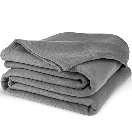 Equinox Polar Fleece Blanket  - Dove Grey, Super Soft & Warm