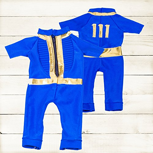 Baby Vault 111 Suit/ Video Game Inspired Spandex (Fallout Vault Dweller Costume)