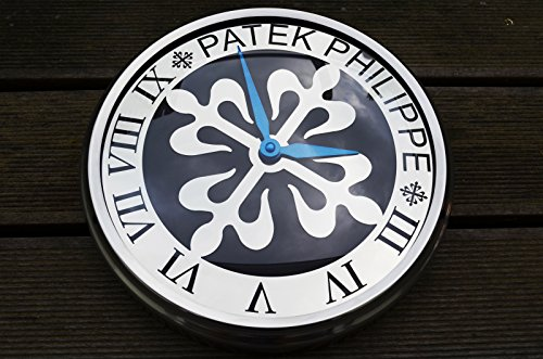 patek-philippe-calatrava-dealer-showroom-wall-clock-black-dial