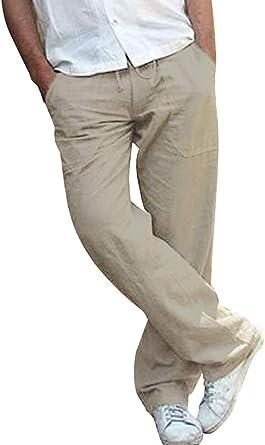 pantalon blanc homme grand taille lin
