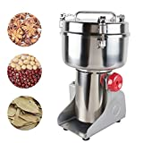 Genmine Electric Grain Mill Kitchen Herb Spice Pepper Coffee Powder Grinder 1000g Household Herbal Cereal Medicine Pulverizer Milling Machine Stainless Steel