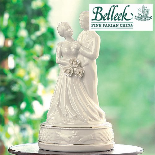 Belleek Irish Claddagh Cake Topper