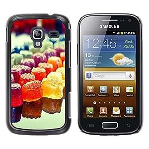 LECELL--Funda protectora / Cubierta / Piel For Samsung Galaxy Ace 2 -- Colorido del caramelo del arco iris --