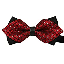 TANGDA Casual Men Stripe Pre-tied Bow Tie Cravat Bowtie 11 Colors Available