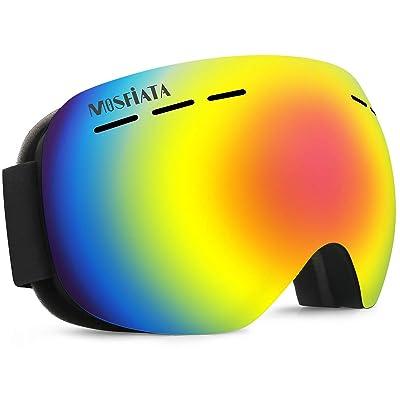 【27日まで】MOSFiATA UV400紫外線カット 180°広視野球面レンズ スノーゴーグル 送料込1,149円【激安★超特価商店街限定】