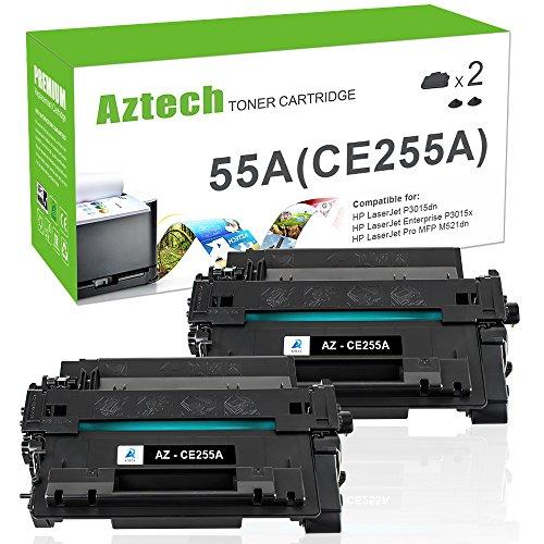 E255A Toner Cartridge Compatible for HP 55A CE255A HP Laserjet P3015dn P3010 HP Laserjet P3015x P3015 P3015d P3015n HP Laserjet Pro 500 MFP M521dn M521dw M525dn M525f Printer ()