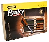 Stanley 2-16-217 Chisel-Set Bailey (5-piece), Silver/Tan Brown