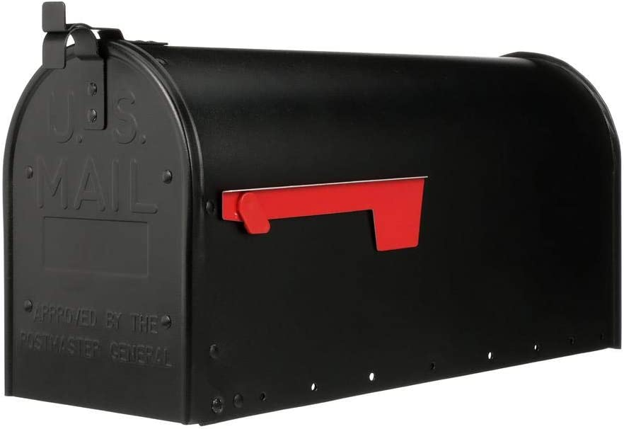 Gibraltar Mailboxes Adm16b01 Admiral Large Post Mount Mailbox Black