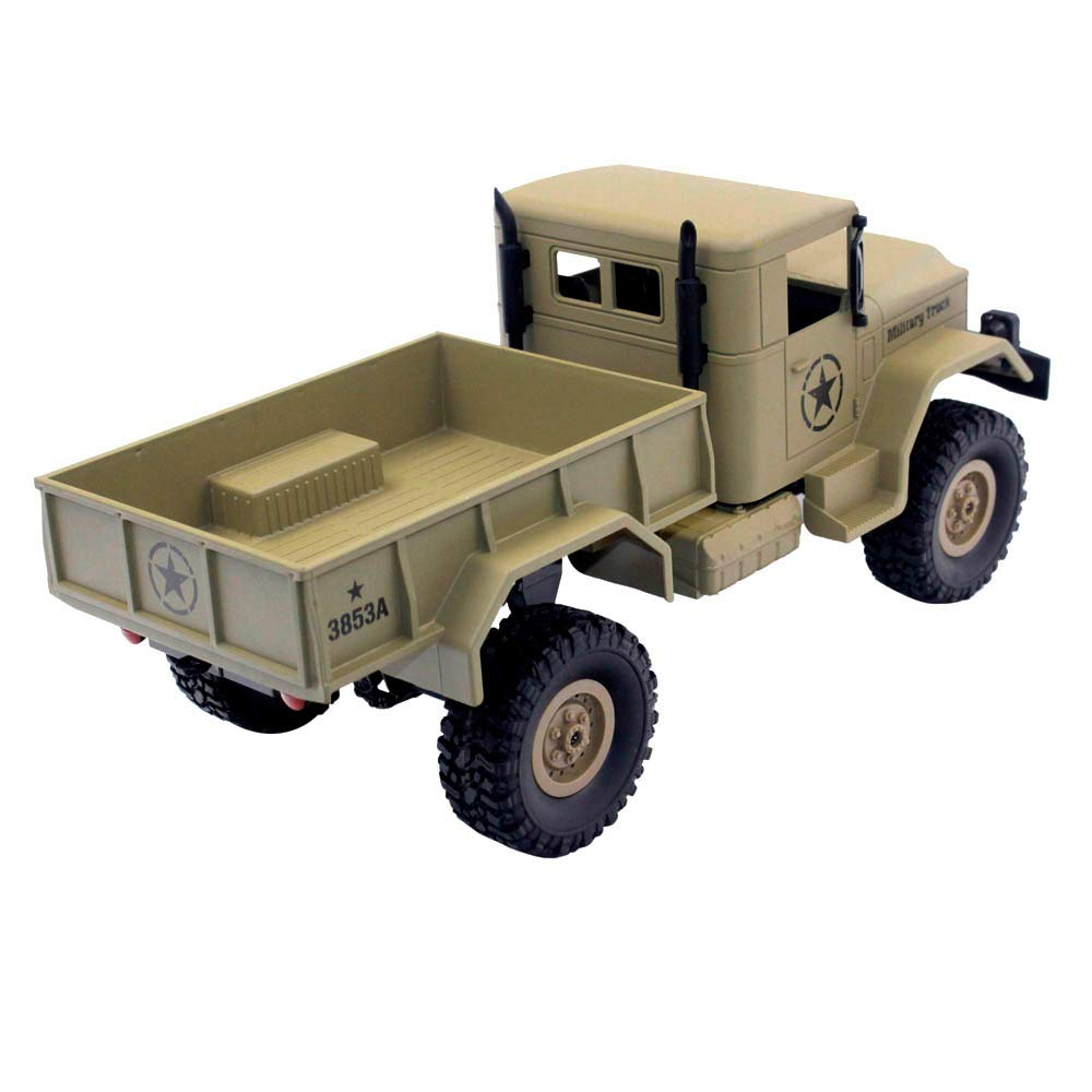 Choosebuy 1:16 Military Off-Road Remote Control Truck, Cool 6WD Powerful Engine Bright Spotlights RC Tracked Cars Toys with 2.4GHz Technology for Indoors/Outdoors (Desert Yellow) by Choosebuy (Image #5)