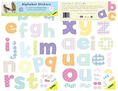 Funtosee Mini Wall Art Decals Lowercase Alphabet by FunToSee