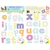 FunToSee ABC Mini Wall Art, Lower Case, 36 stickers