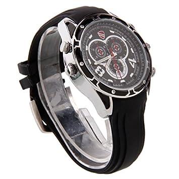 8 GB reloj cámara Watch - Reloj digital video HD 1080P IR Visión Nocturna Cámara Espía De Reloj Resistente al agua: Amazon.es: Bricolaje y herramientas