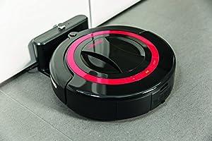 Vileda 949860 Robot aspirador inteligente con programador y estación de carga, 25 W, 25 Decibelios, Otro, Negro
