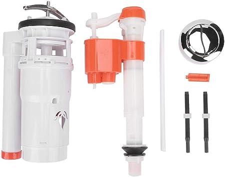Válvula de descarga de Inodoro Accesorios de Inodoro Conectados depósito de Agua Válvula de Llenado Kit de descarga Doble Convertidor de Inodoro Cisterna Kit de Reemplazo de Botón Pulsador Accesorios: Amazon.es: Bricolaje